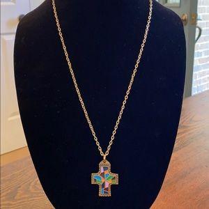 Terra Sanctus Guild Cross Enamel Necklace Pendant